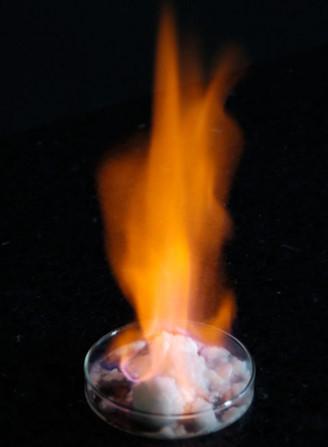 メタンハイドレート燃焼